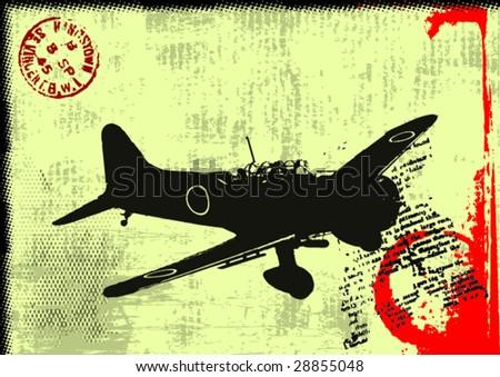 Abstract Postal Background -Vector Art- - stock vector