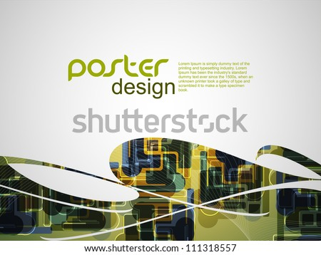 Abstract poster background with colorful design. - stock vector