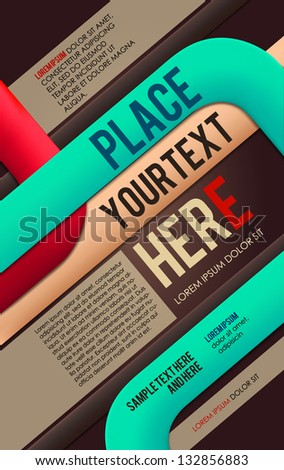 Abstract poster. Vector - stock vector