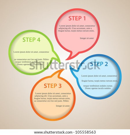 abstract poster with speech bubbles in different colors - stock vector