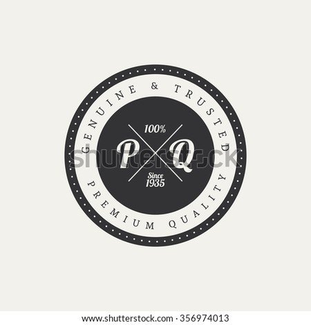 Abstract premium quality label on a white background - stock vector