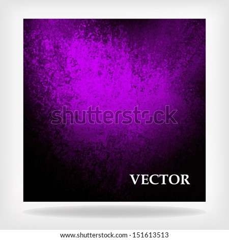 abstract purple background vector, black elegant distressed vintage grunge background texture frame with elegant spotlight, scalable purple background for billboard sign or large banner poster ad - stock vector