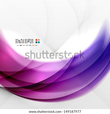 Abstract purple swirl design - stock vector