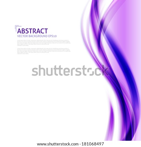 Abstract purple waves background - Design Template - stock vector