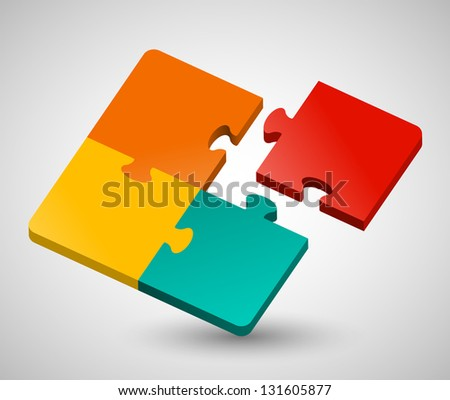 Abstract Puzzle | EPS10 Vector - stock vector