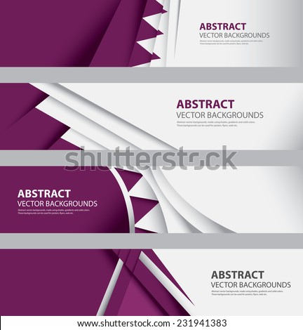 Abstract Qatari Flag Background Collection, Qatar colors, Info Graphic Templates, Modern and Contemporary Style (Vector Art) - stock vector