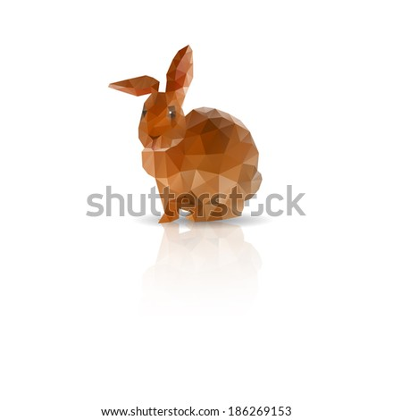 Abstract Rabbit low polygonal vector - stock vector