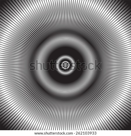 Abstract radiation. Vector illustration. - stock vector