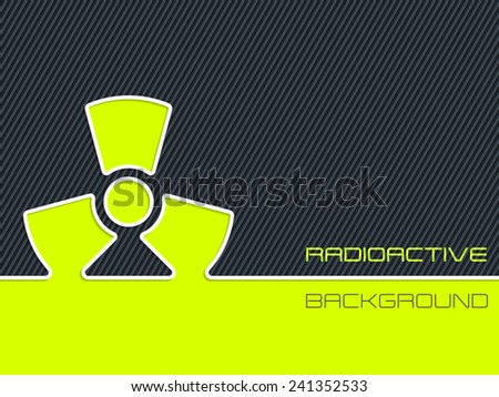Abstract radioactive warning design with striped background - stock vector