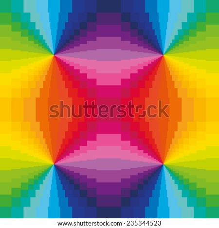 Abstract Rainbow Colors Background - stock vector