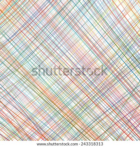 Abstract rainbow curved diagonal stripes color line art vector background - stock vector