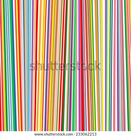 Abstract rainbow curved stripes color line background  - stock vector