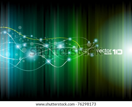 Abstract Rainbow Lights Business Cards - stock vector