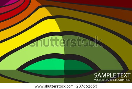 Abstract rainbow vector background illustration - Colorful striped curved vector background template - stock vector