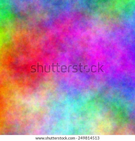 Abstract rainbow watercolor background. Vector illustration. Fantasy design. Editable template with space for your text. - stock vector