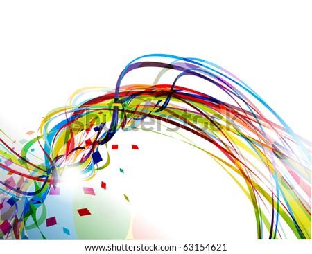 abstract rainbow wave line background. vector design - stock vector
