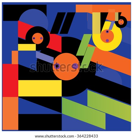 Abstract random and colorful shape background vector illustration - stock vector