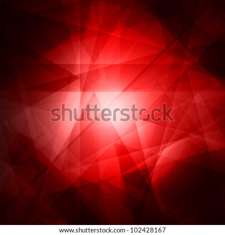 Abstract red background for design - vector illustration - stock vector