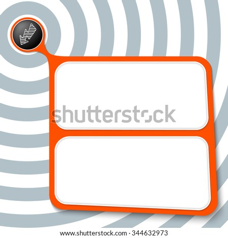 Abstract red box for your text and flash - stock vector