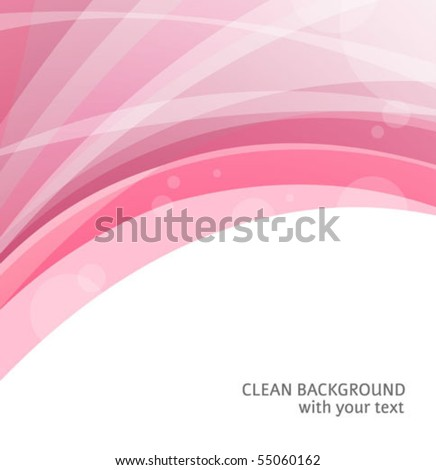 Abstract red curve backgrounds with a space for a text - stock vector