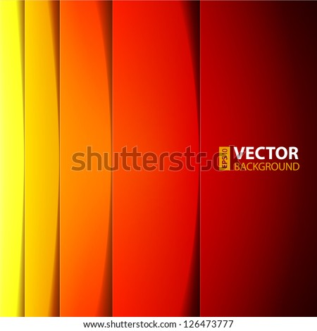 Abstract red, orange and yellow rectangle shapes background. RGB EPS 10 vector illustration - stock vector