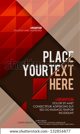Abstract red poster. Vector - stock vector