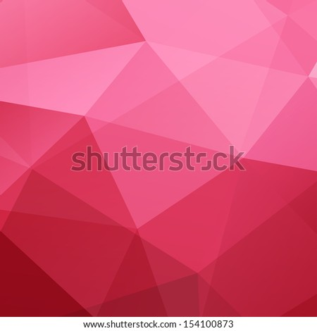 Abstract Red Triangle Geometrical Background. Pattern of Geometric Shapes. Colorful Mosaic Banner. Vector Illustration EPS10 - stock vector