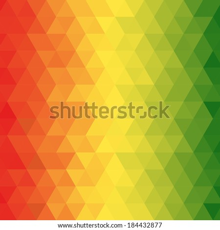 Abstract reggae geometric pattern with for background, Vector - stock vector