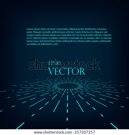 Abstract retro background wit radial stripes - stock vector