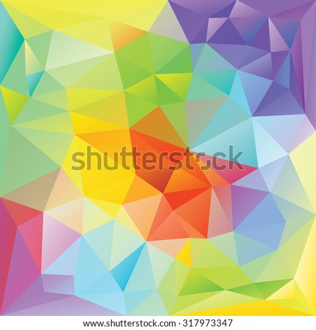 Abstract retro colorful triangles vector background. - stock vector