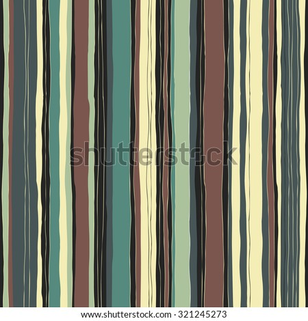 Abstract retro colors stripes pattern. Seamless hand-drawn lines vector design. - stock vector