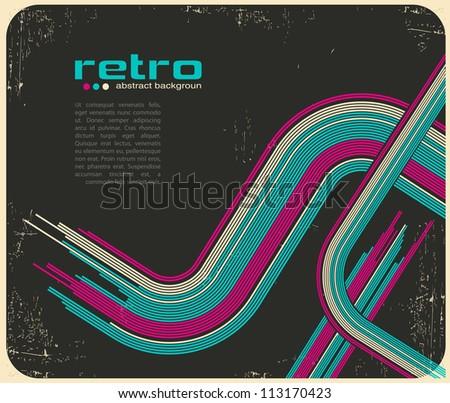 abstract retro disco background - vector. - stock vector