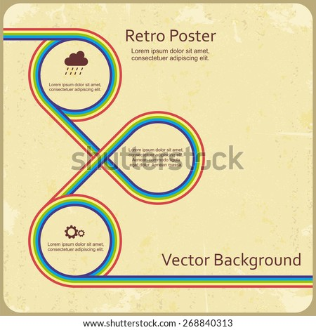 Abstract retro lines background. Vector illustration Eps 8. - stock vector