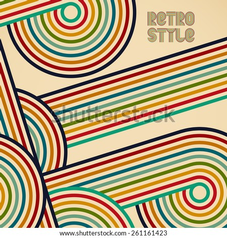Abstract retro rounded vector background - stock vector