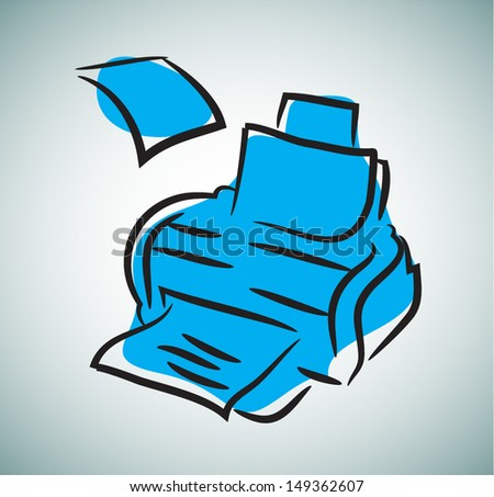 Abstract retro style typing machine. - stock vector