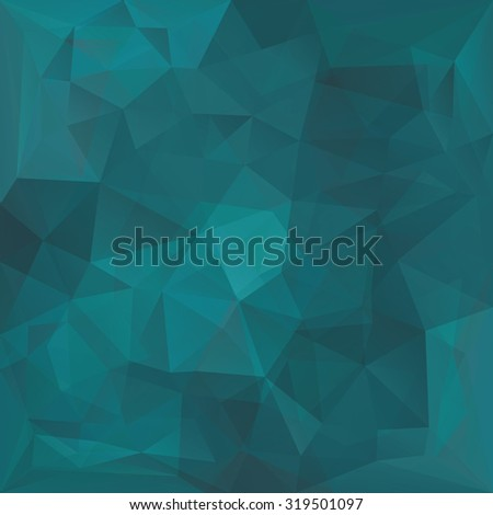 Abstract retro teal triangles vector background. - stock vector