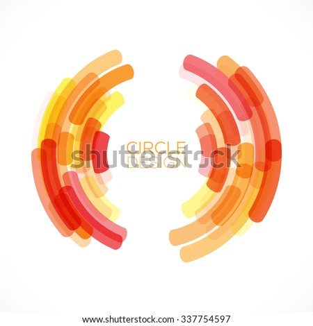 Abstract Retro Technology Circle. Abstract Circle Frame for Business Presentations. Vector illustration. - stock vector