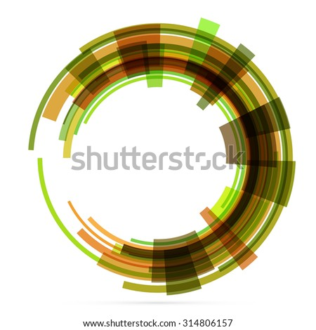Abstract retro technology circle. Vector illustration. 4 - stock vector