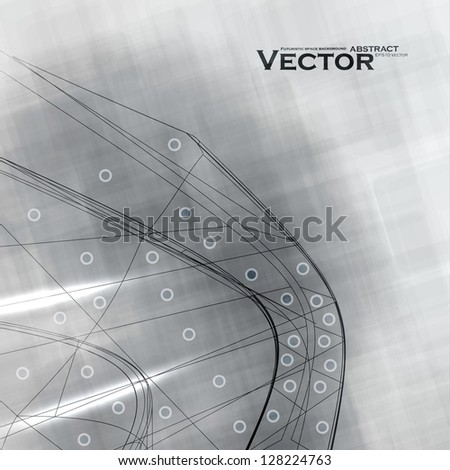 Abstract retro technology, vector technical background eps10. - stock vector