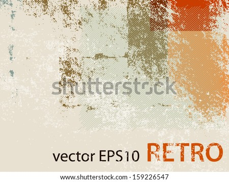 Abstract retro wallpaper background - grunge style 70s - stock vector