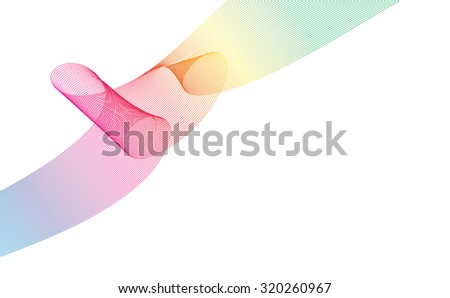 Abstract Ribbon Background. uniquely beautiful stripes. Vector Design EPS10. - stock vector
