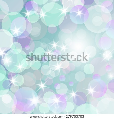 Abstract romantic  bokeh background with a stars and glow.  - stock vector