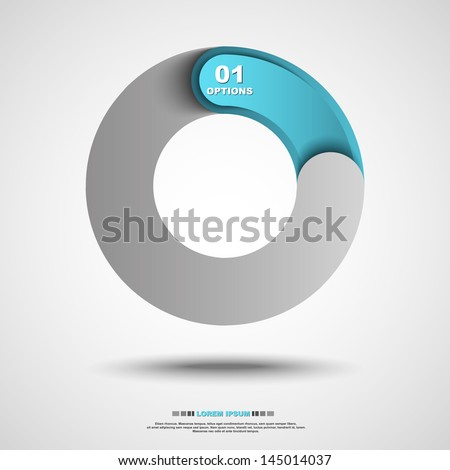 Abstract round icon. Vector illustration. - stock vector