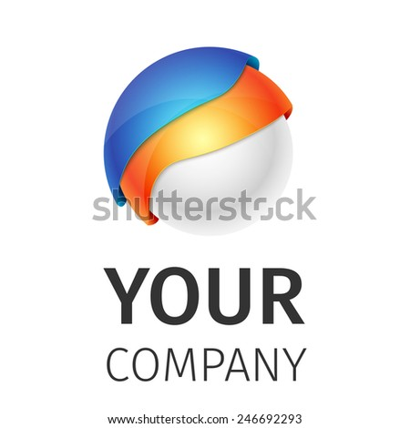 Abstract round logo on a white background, excellent vector illustration, EPS 10 - stock vector