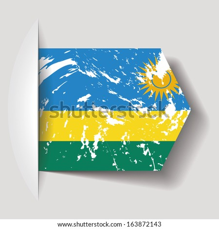 abstract Rwanda flag on a white background - stock vector
