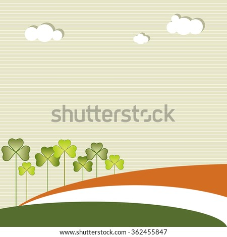 Abstract Saint Patrick's Day Background - stock vector