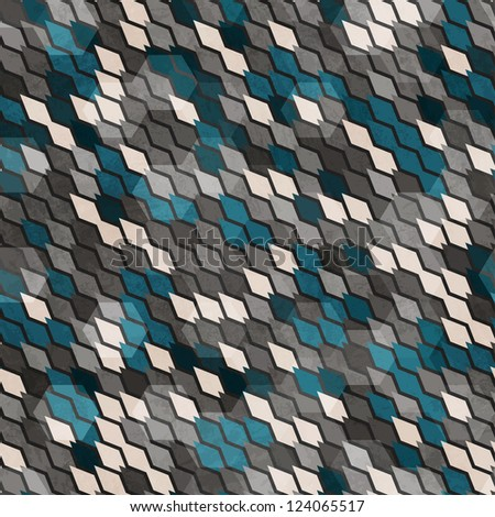 abstract scales seamless pattern - stock vector