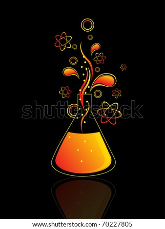 abstract science research concept background, vector illustration - stock vector