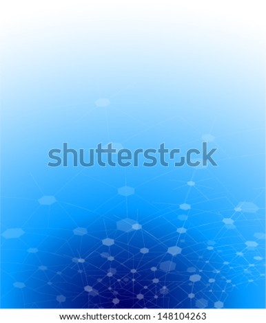 abstract scientific technology concept background - stock vector