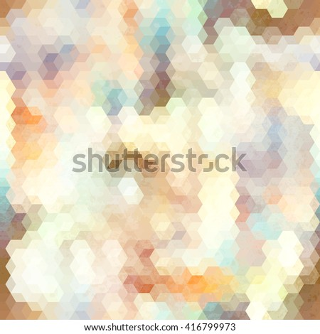 Abstract seamless background with a cube decoration. - stock vector